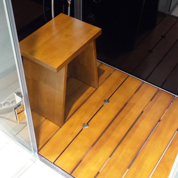 Hamam tammepuidust iste ja põrandarestid (tiigipuu toon)