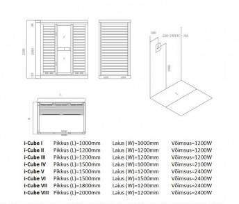 i-Cube tehniline joonis