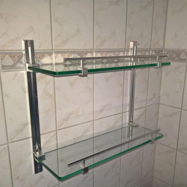 Alumix reguleeritavad klaasriiulid